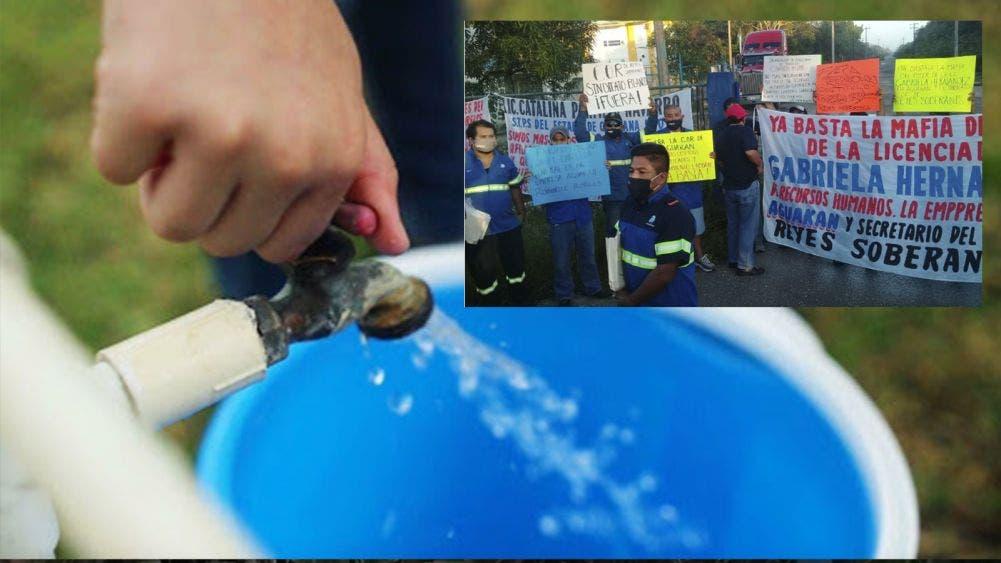 Huelga de trabajadores de Aguakán deja sin agua a Cancún