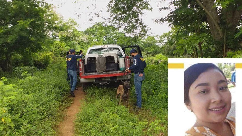 Policías, bomberos y binomios caninos participan en la búsqueda de Érika en Huhí