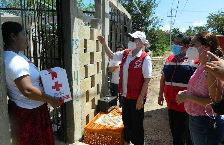 Damnificados por Huracán Delta recibirán despensas a través de la Cruz Roja