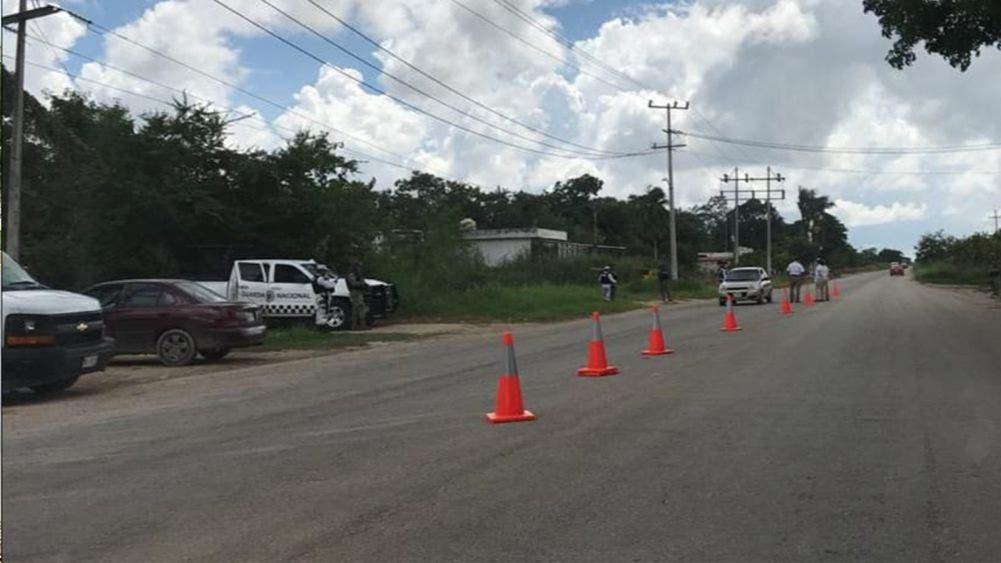 Fuerte despliegue federal en la frontera entre México y Belice