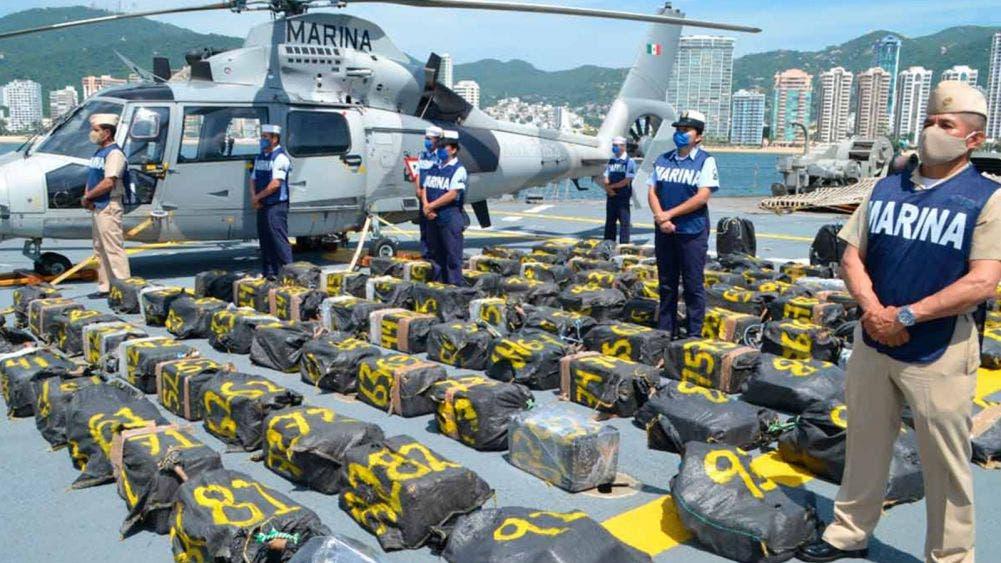 ¡Golpe al crimen organizado! Marina le decomisa 2 tons de cocaína