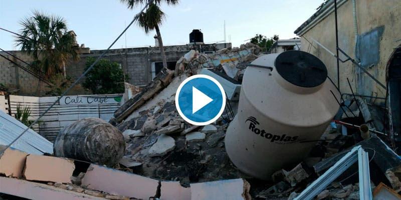 Video: Explosión por fuga de gas en cafetería de Cozumel.