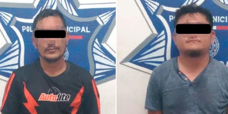 Caen dos presuntos extorsionadores en Playa del Carmen.