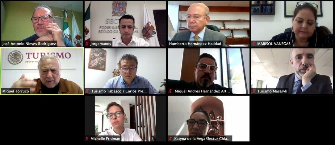 Dará Sectur nuevo impulso turístico al Mundo Maya; secretarios del ramo sostuvieron un encuentro virtual con Miguel Torruco.