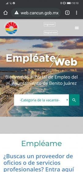 """Lanza gobierno de Cancún """"Empléate Web"""""""