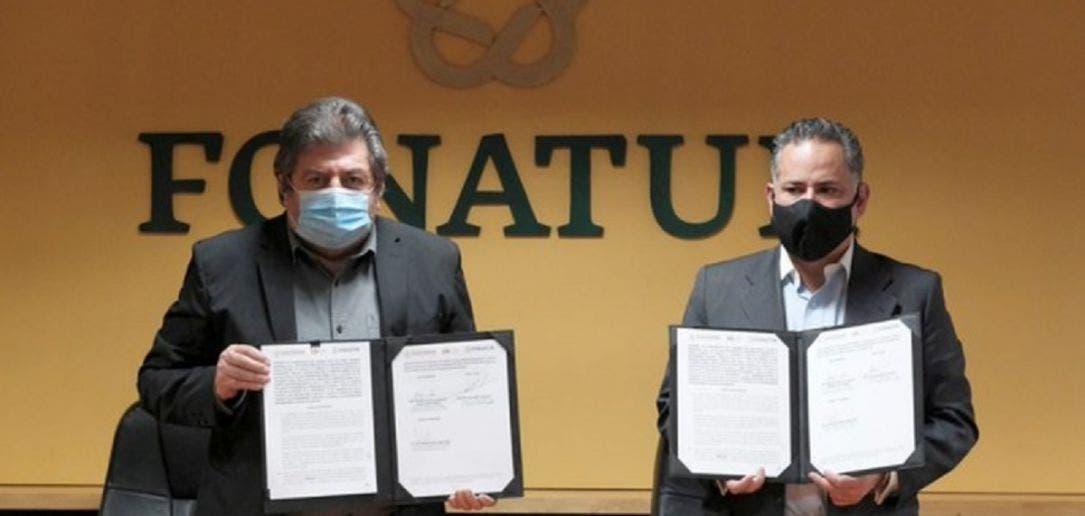 Rogelio Jiménez Pons, titular del Fondo Nacional de Turismo (Fonatur) y Santiago Nieto Castillo, jefe de la Unidad de Inteligencia Financiera (UIF).