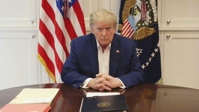 Asegura Donald Trump que se siente mejor ahora.