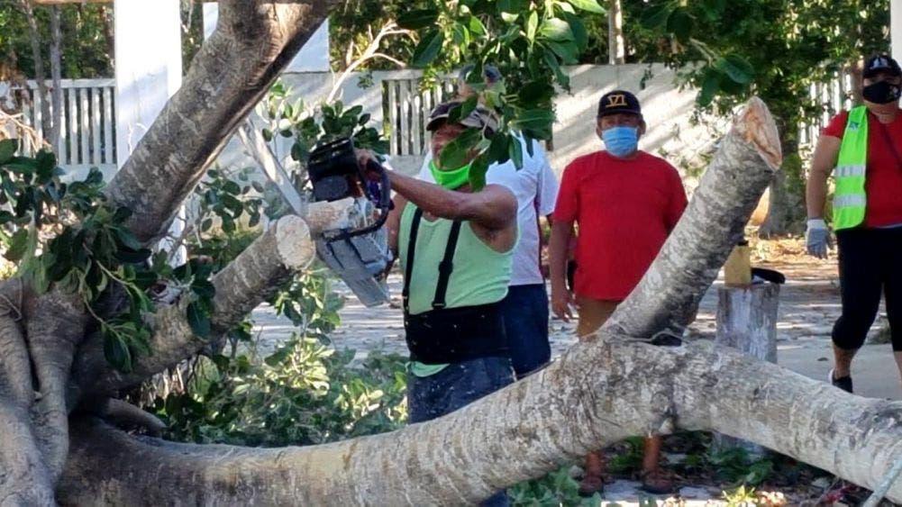Continúa la recuperación de Puerto Morelos: Laura Fernández