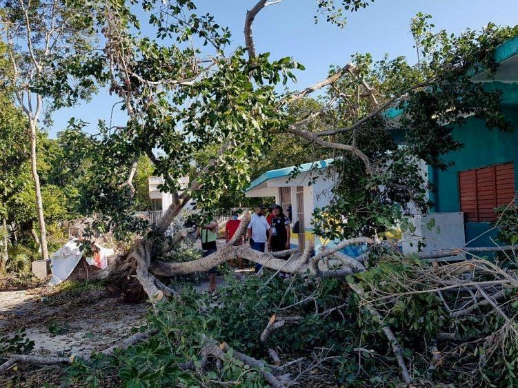 """Brigadistas y voluntarios realizan intensas labores para recuperar la imagen de Puerto Morelos, afectada por el huracán """"Delta"""", señala la alcaldesa"""