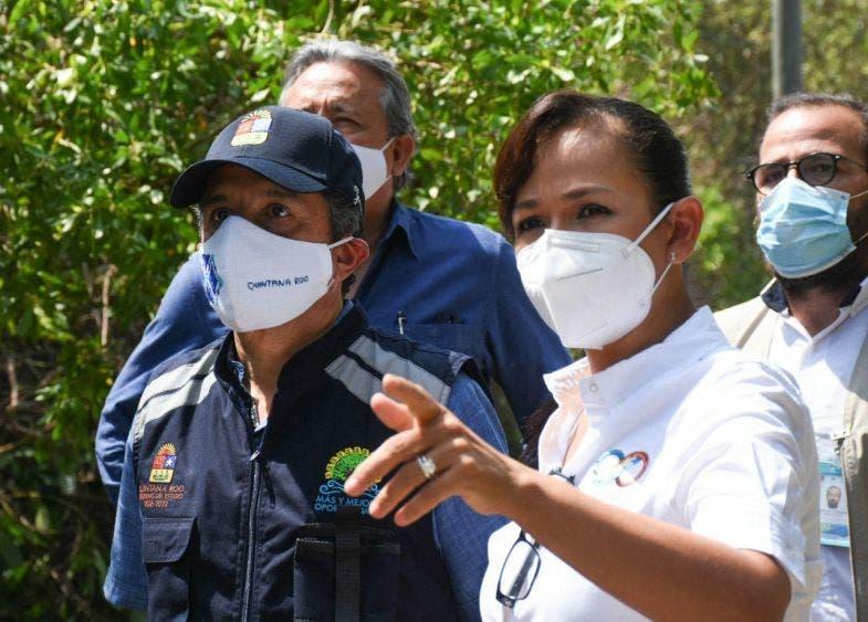 La alcaldesa agradece la visita del mandatario, quien siempre ha estado pendiente de Puerto Morelos, como fue antes, durante y después del impacto del ciclón