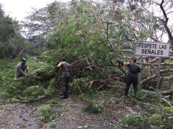 Militares aplican Plan DN-III-E en Yucatán tras el paso del Huracán Delta
