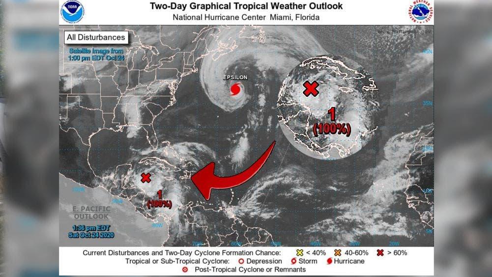 """Inminente, formación de tormenta tropical """"Zeta"""" a 530 km de Q. Roo"""