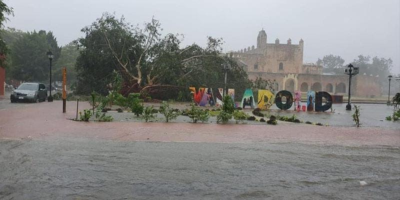 Tormenta Gamma provoca fuertes vientos e inundaciones en Valladolid