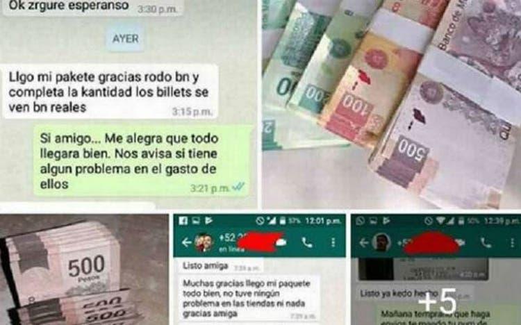 Ofertan billetes falsos por medio de las redes sociales.