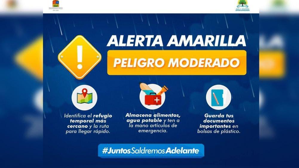 """Emite gobierno alerta amarilla para 7 municipios por huracán """"Delta"""""""