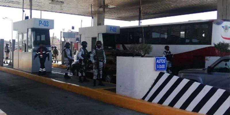 Resguardan caseta Ecatepec-Pirámides tras ser tomada