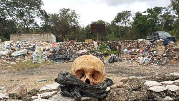Sacalum: Empleados de la recolección de basura encuentran un cráneo dentro de una bolsa