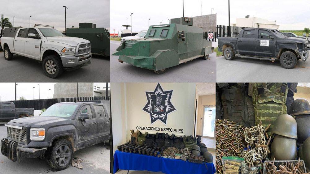 Decomisan al narco camionetas con blindaje artesanal en Tamaulipas