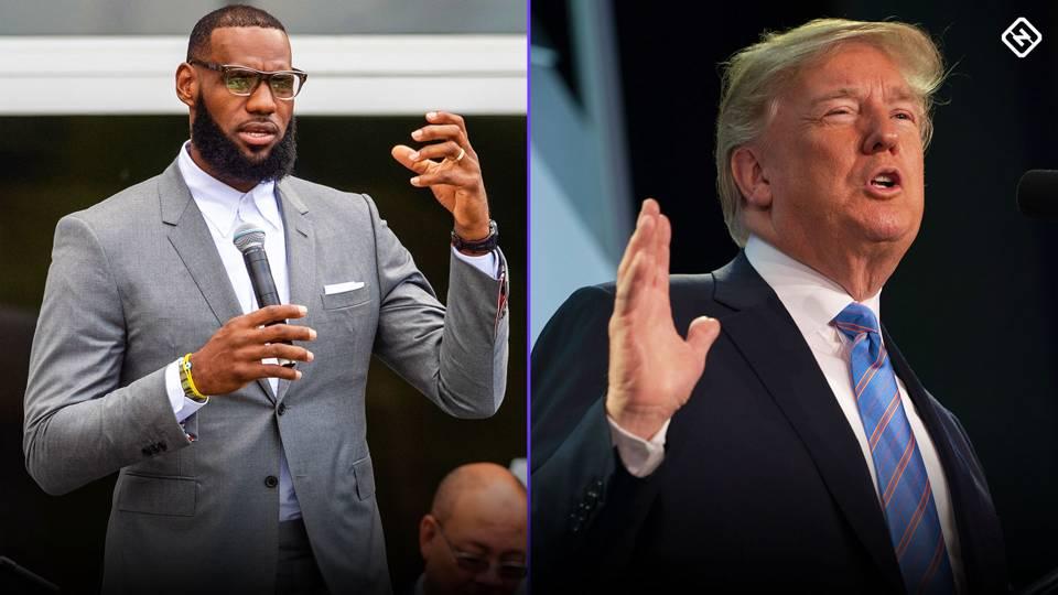 """LeBron James intentará """"acabar"""" con Donald Trump"""