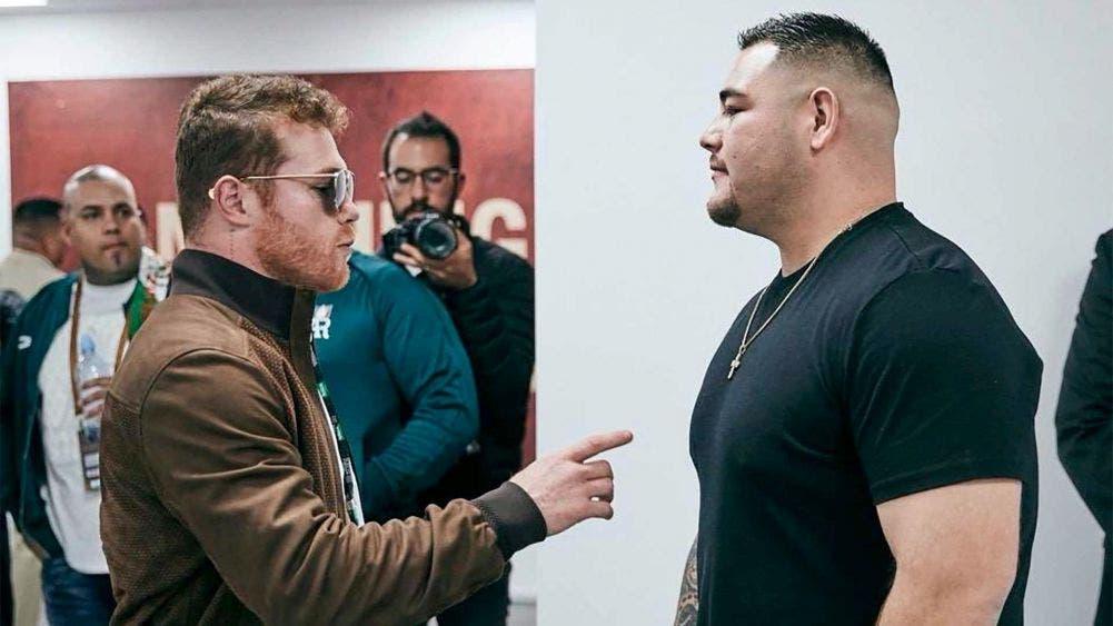 Andy Ruiz da a conocer que ya entrena con Canelo Álvarez