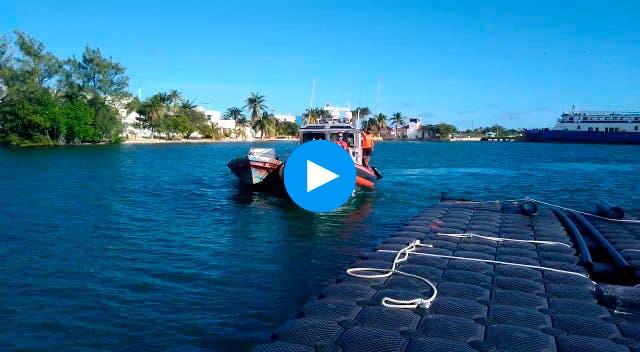 Video: Rescata la Marina a un lanchero en aguas de Isla Mujeres.
