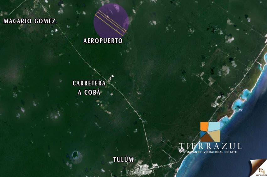 Anuncia AMLO construcción de aeropuerto en Tulum.