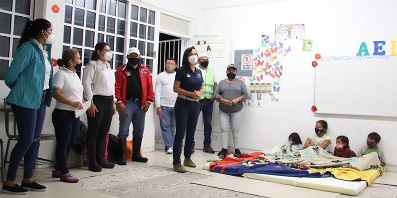 Supervisa Laura Fernández refugios temporales
