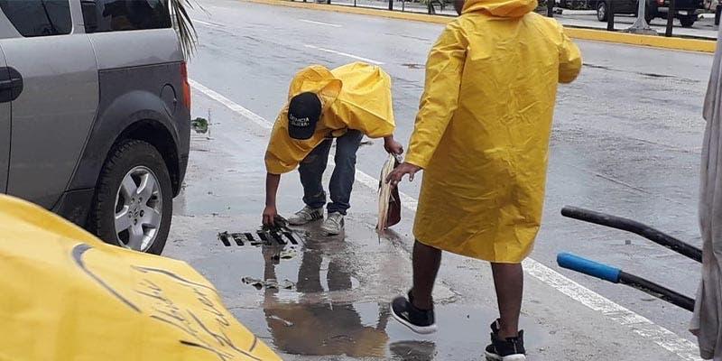 "Amplio operativo ante tormenta tropical ""Gamma"" en Tulum"