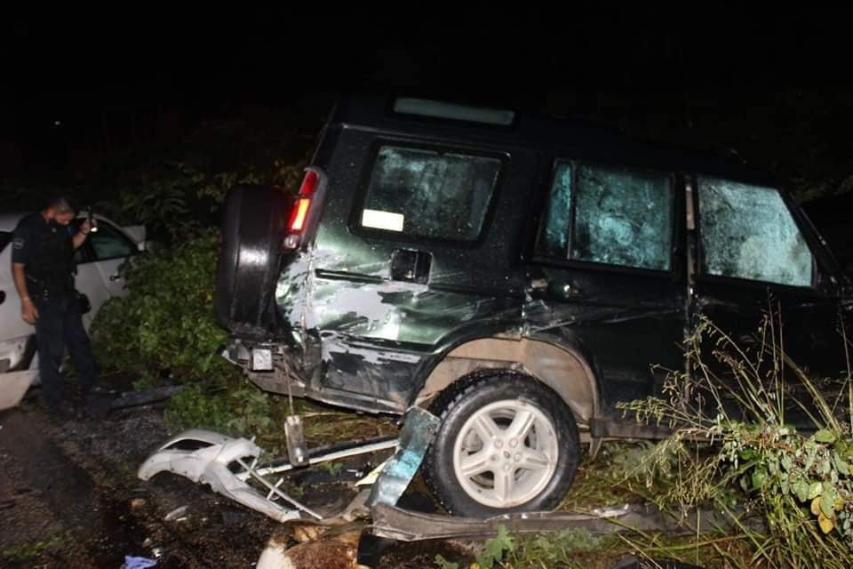 Deja cuatro heridos aparatoso choque en carretera Tulum-Cobá.