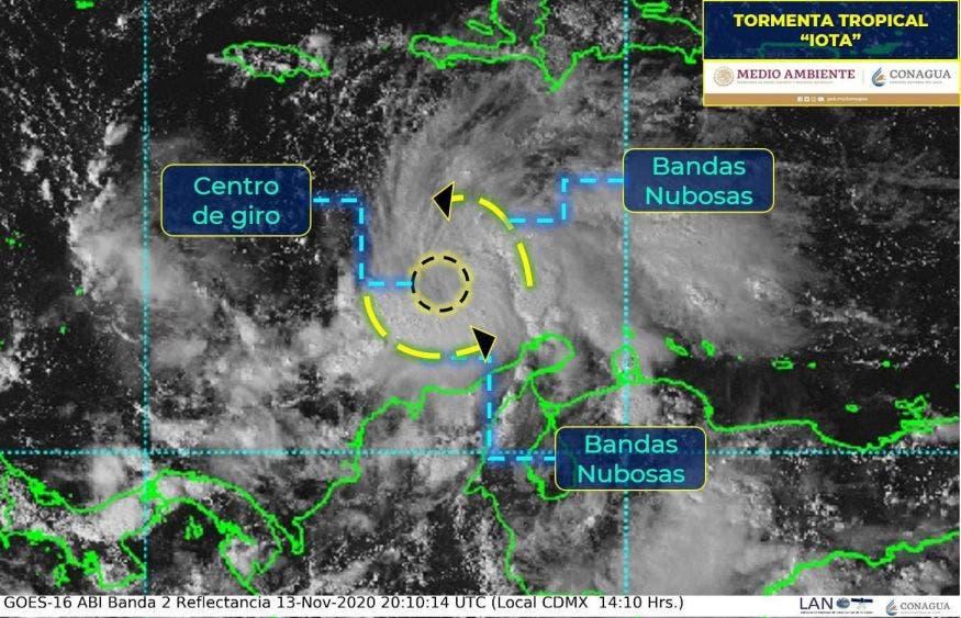 Centroamérica en alerta por tormenta tropical 'Iota'
