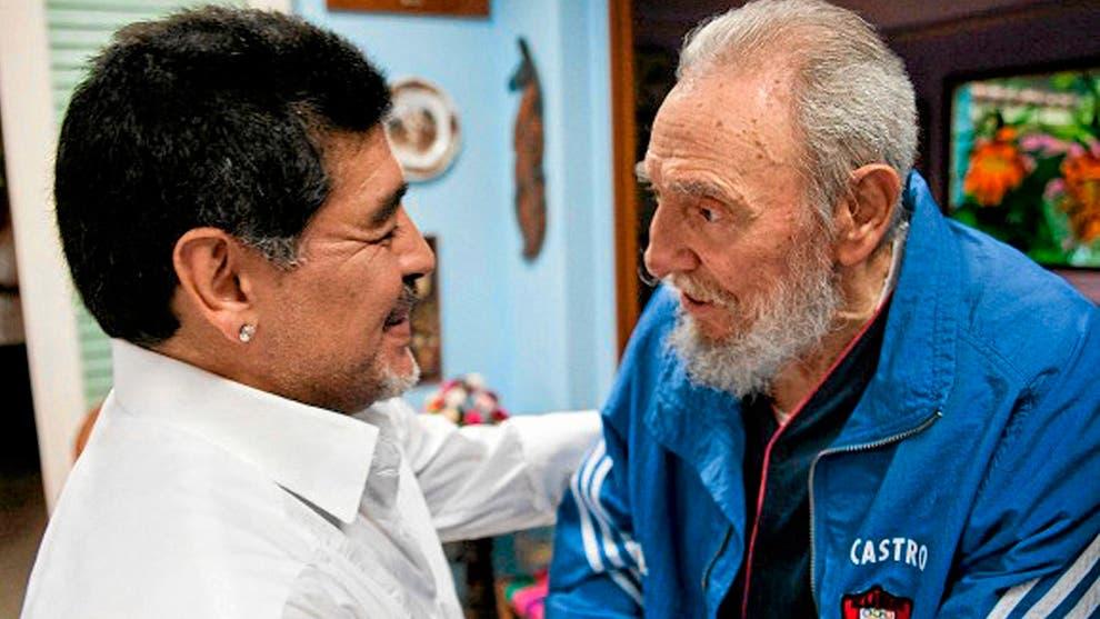 Fallece Maradona el mismo día que su amado Fidel Castro, su segundo padre.