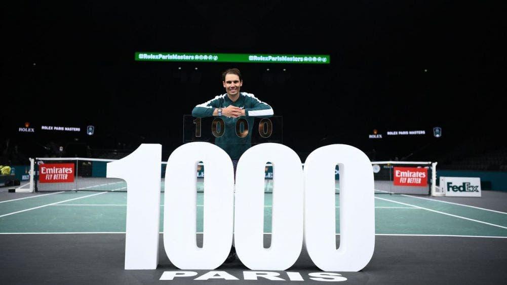 Rafa Nadal es el cuarto hombre en ganar 1.000 partidos del ATP Tour