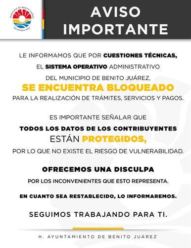 Hackean el sistema operativo del Ayuntamiento de Benito Juárez; anuncia Mara Lezama que se preparan las denuncias correspondientes.