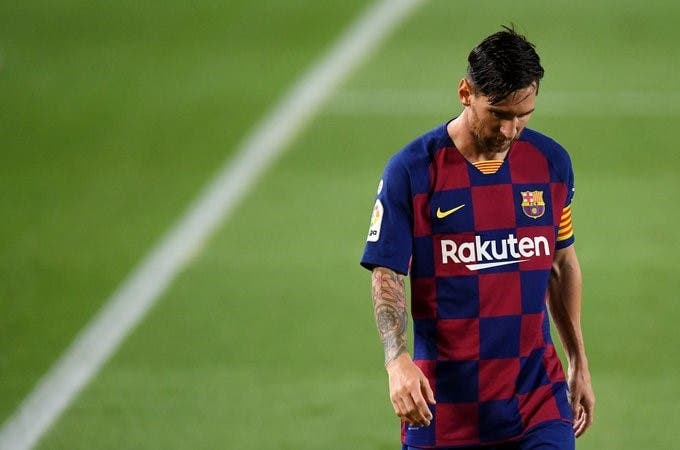 Messi no fue convocado a la Champions League