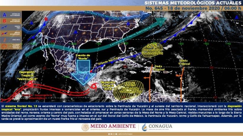 Clima: Se esperan lluvias en Quintana Roo por frente frío.