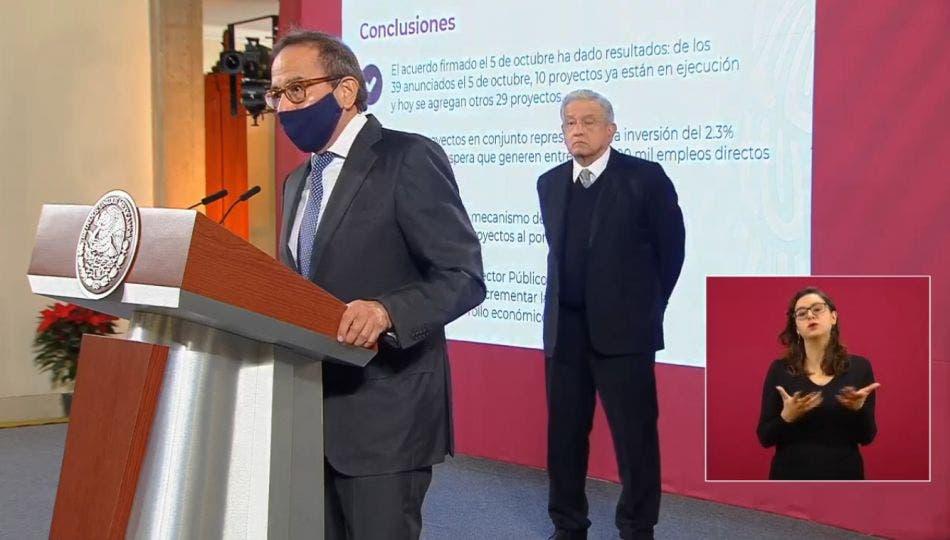 Presentan AMLO y empresarios segundo paquete de inversiones