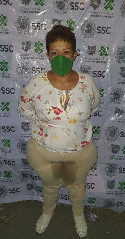 Lized Yuriria Juárez Hernández, alias 'Big Mama', detenida la tarde de ayer en CDMX.