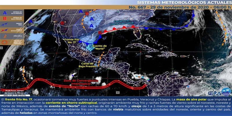 Pronóstico del clima para hoy domingo 29 en Quintana Roo.
