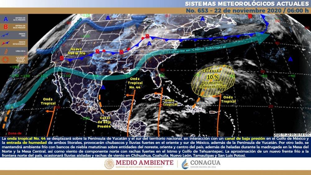 Clima: Pronóstico del tiempo para hoy domingo En Quintana Roo.