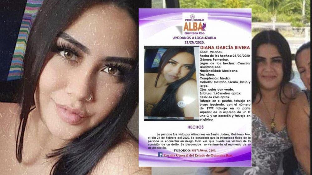 Cumple Diana García Rivera nueve meses desaparecida en Cancún