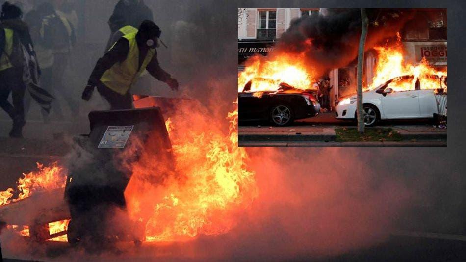 Chocan violentamente ciudadanos y policías en Francia