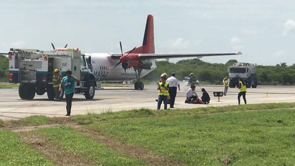 Se electrocuta trabajador del aeropuerto de Mérida