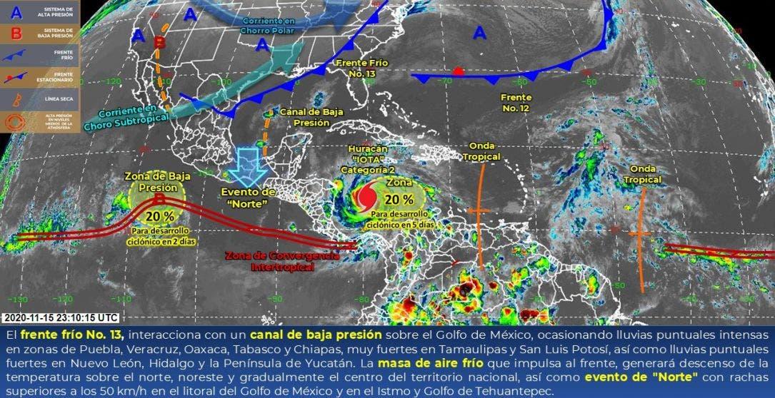 Clima: Condiciones meteorológicas para hoy lunes 16 en Quintana Roo.