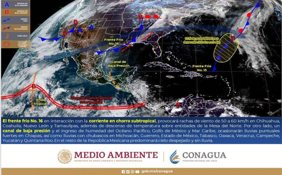 Pronóstico del clima para hoy jueves en Quintana Roo.