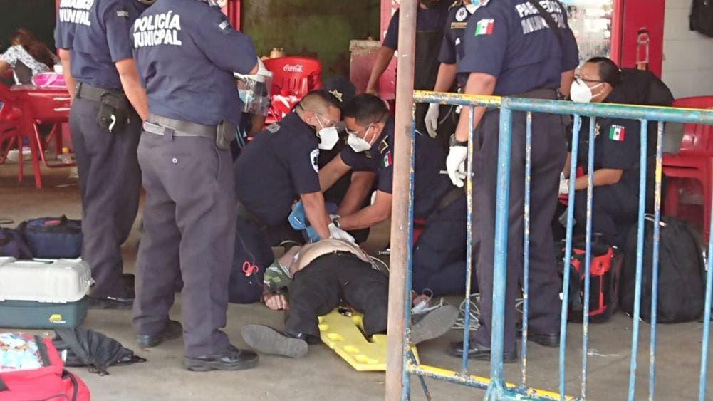 Abuelito muere de un infarto en el mercado San Benito de Mérida