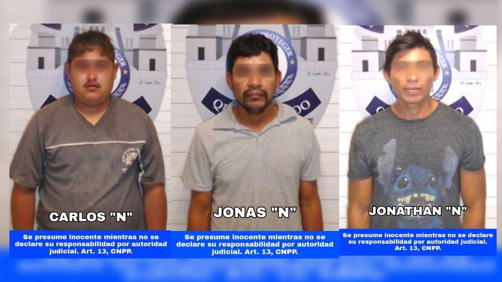 Detiene policía a tres presuntos ladrones en Paseos Kuzamil