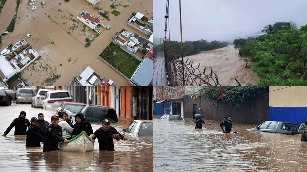 """Frente frío y """"Eta"""" causan estragos y deja cuatro muertos en Chiapas"""