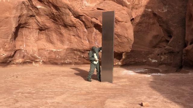 Desaparece el misterioso 'monolito' de metal hallado en Utah.