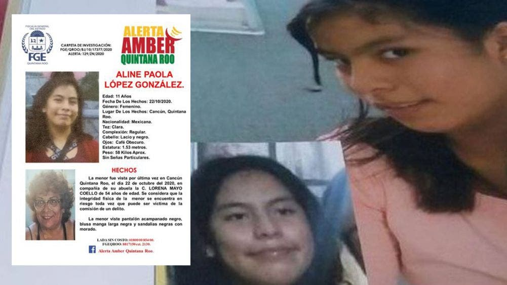 Continúa búsqueda de la niña Aline López González
