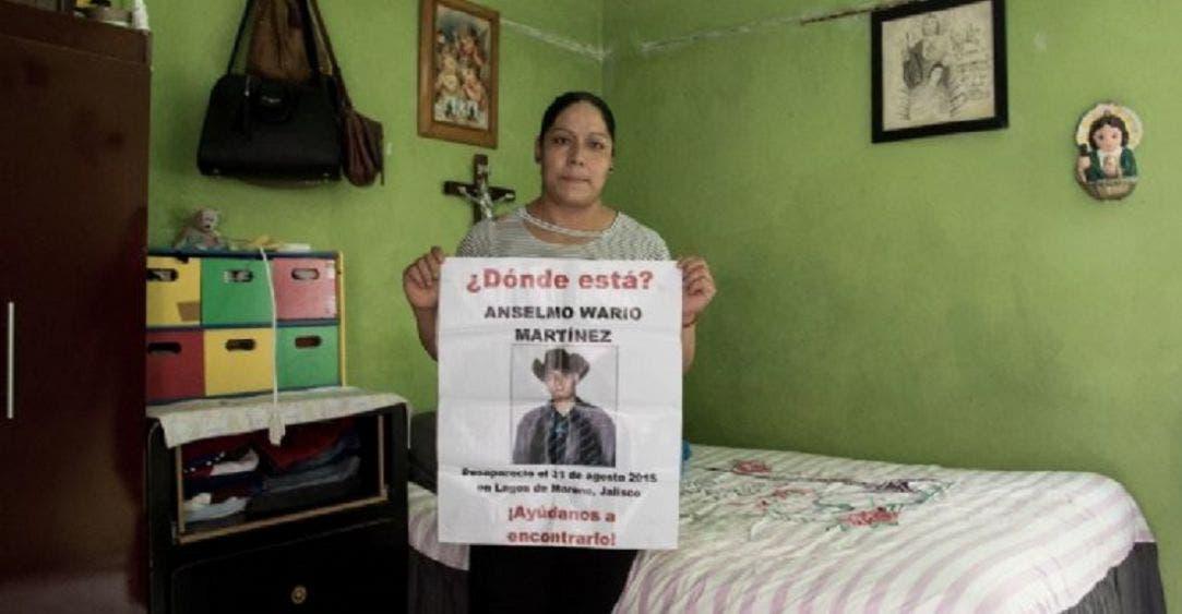 Lourdes Wario, hermana de Anselmo, desaparecido cuando trabajaba en un puesto de jugos en 2015.